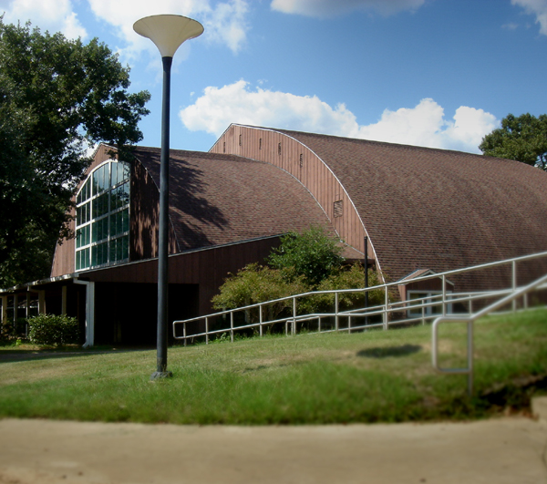 Ambassador University Library Building at campus in Big Sandy, TX